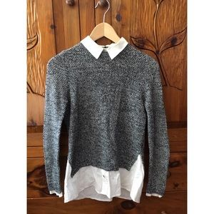 Topshop Attached Shirt &Cardigan Combo US 2